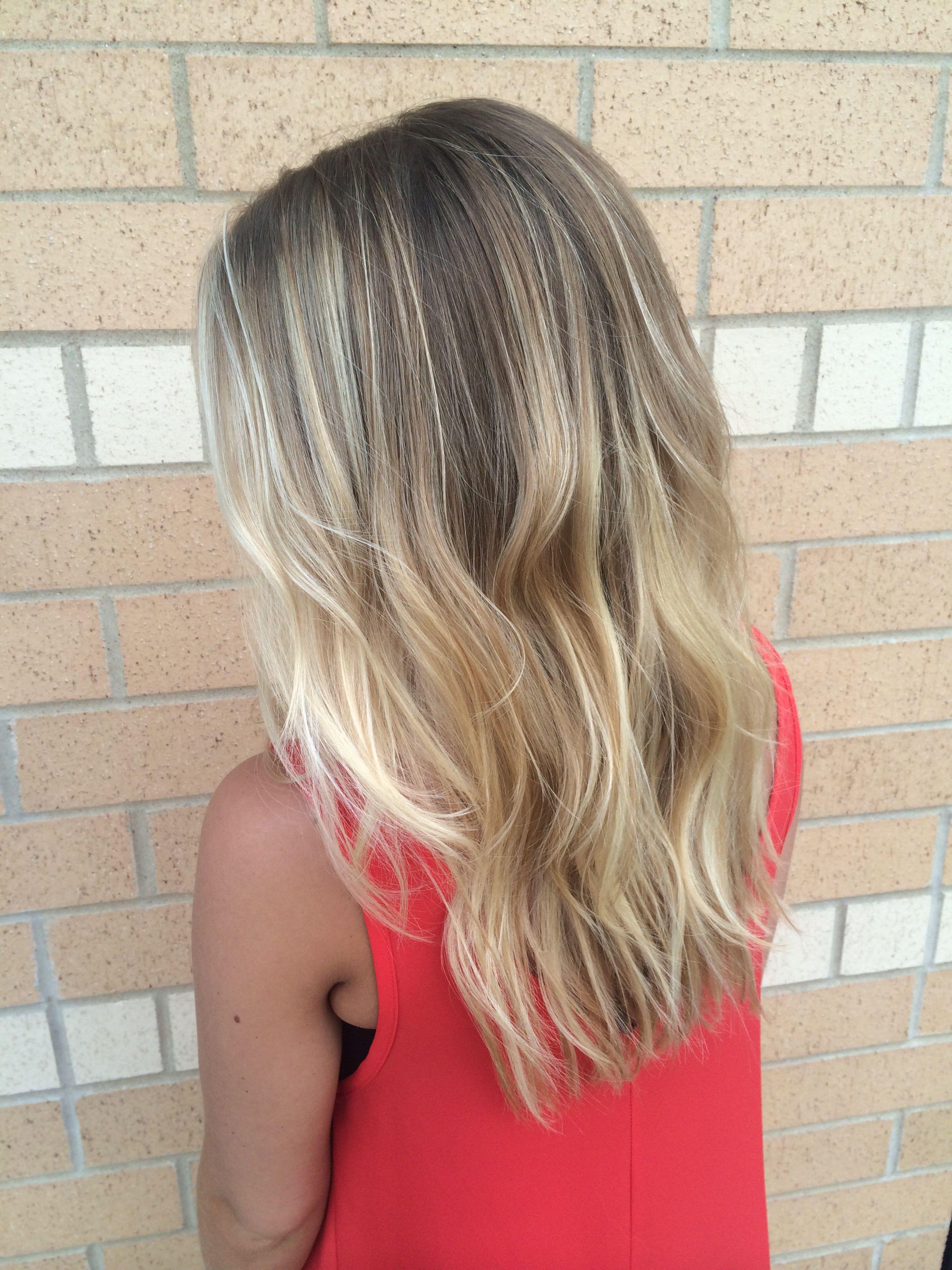 dark blonde with highlights