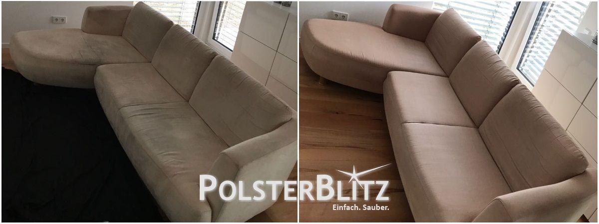 Familiencouch Fasertief Gereinigt Couch Reinigen Polster