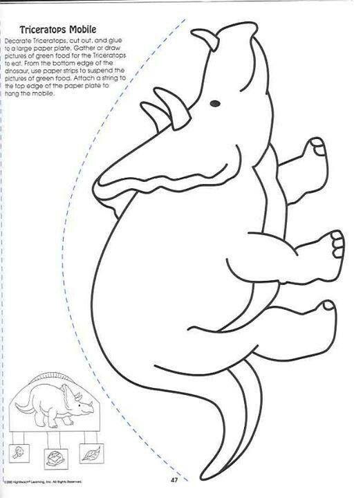 Pingl par marjolaine grange sur dinosaure et - Modele dessin dinosaure ...