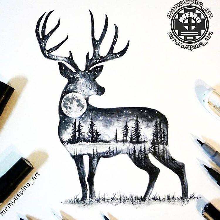 Wonderful tattoo design By @memoespino_art