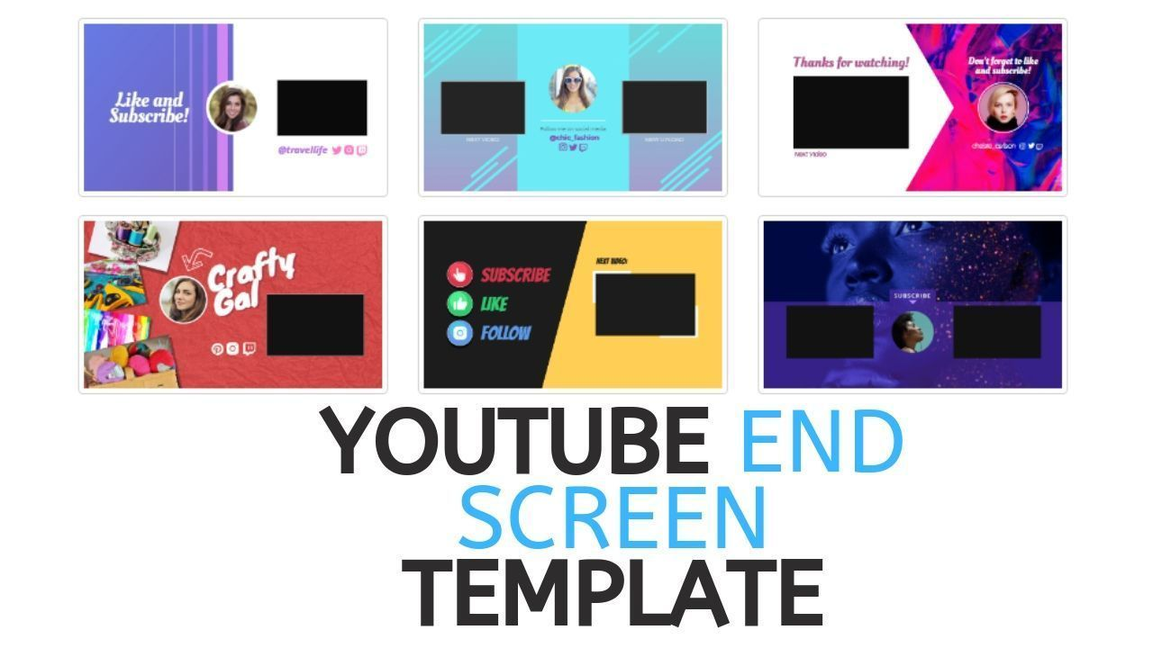 Youtube End Screen Template Templates List Of Websites Youtube
