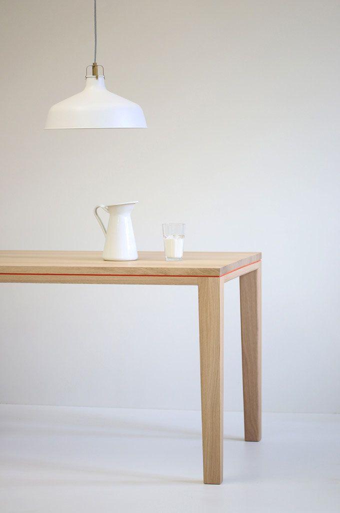 Tisch R10 - Eiche Massivholz weiß geölt Esstisch Pinterest