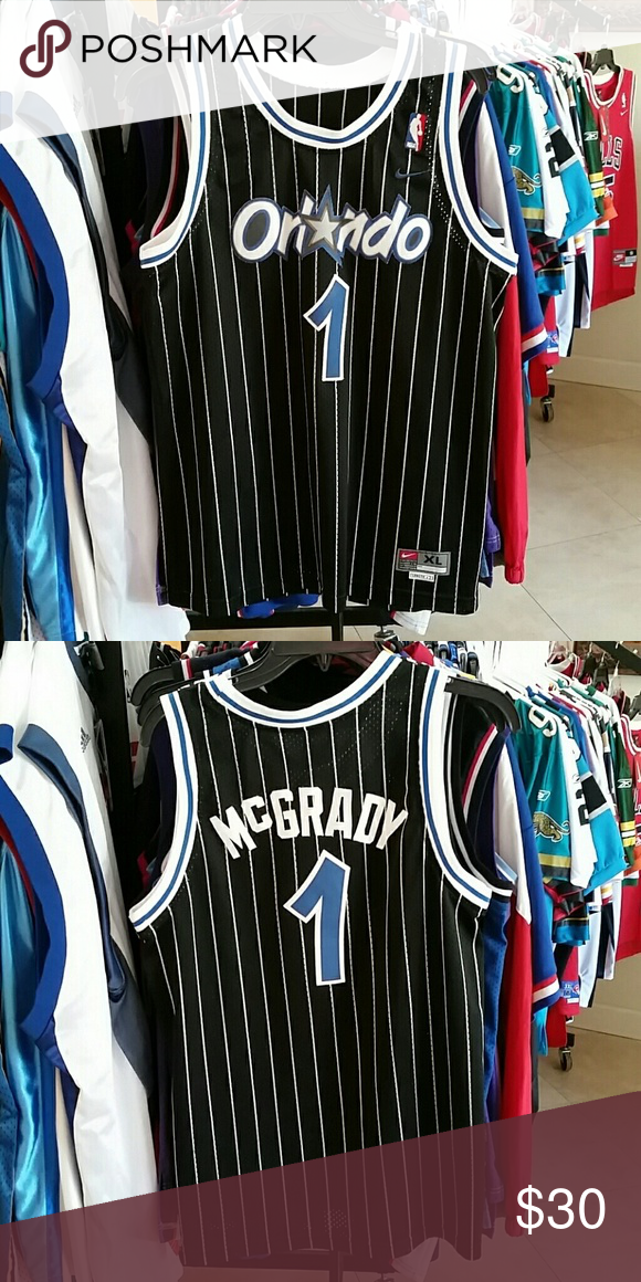 reputable site 40e0a ae384 TRACY MCGRADY ORLANDO MAGIC THROWBACK JERSEY USED WITH MINOR ...