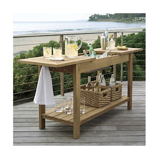 Regatta Natural Console Bar Work Station Reviews Crate And