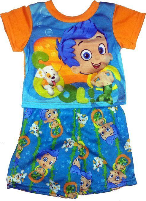 Nickelodeon Bubble Guppies Boys 3 Piece Pajamas Set 2T, Blue//Green