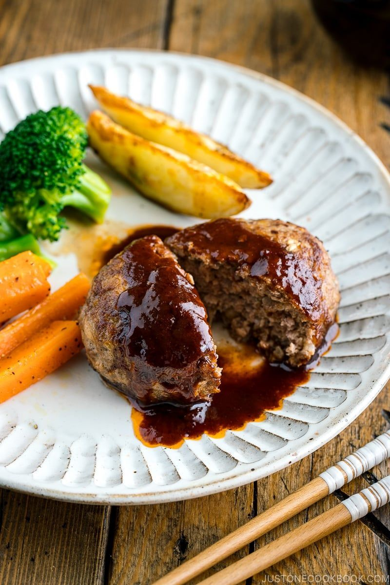 Hamburger Steak Hambagu ハンバーグ Just One Cookbook Recipe In 2020 Hamburger Steak Recipes Japanese Hamburger Steak