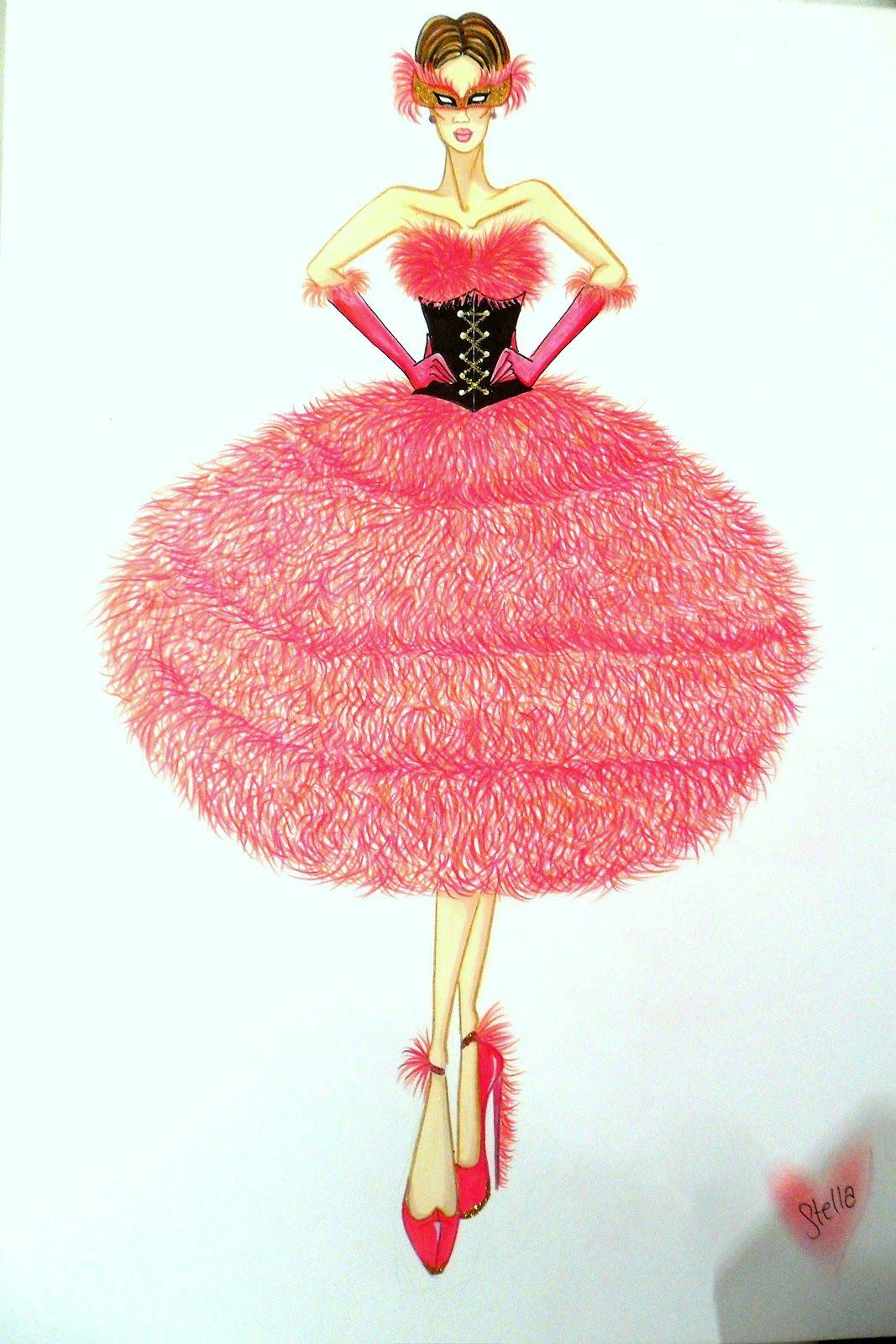 Stellita pink star collezione veneziana flamingo ball masquerade