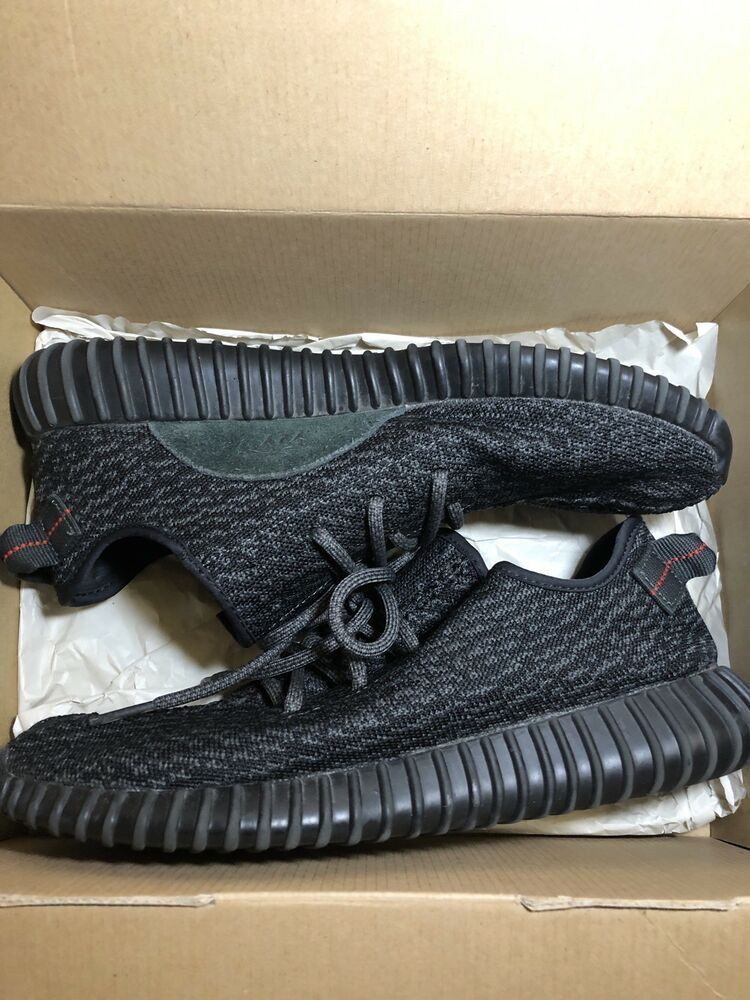 bb921246b75 Adidas Yeezy Boost 350 Pirate Black Athletic Fashion Sneakers  AQ2659  Size  10.5  shoes