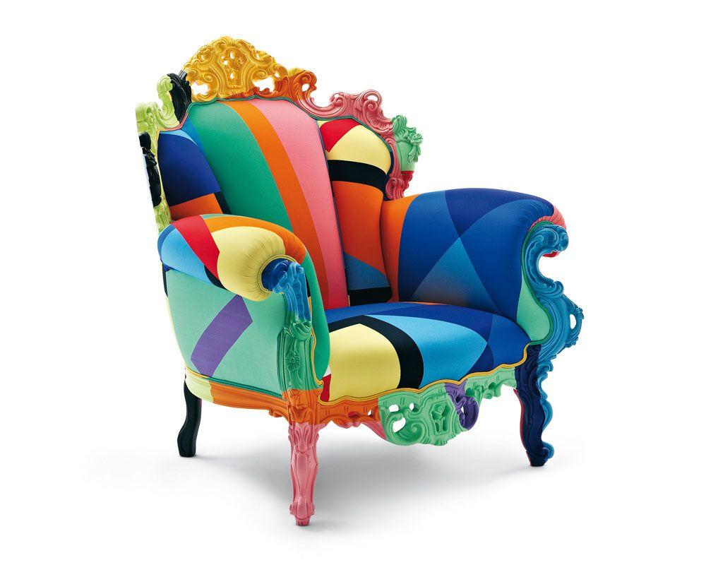 Proust Geometrica, sillón geométrico de Cappellini