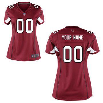 Women s Nike Cardinal Arizona Cardinals Custom Game Jersey f4ce42232