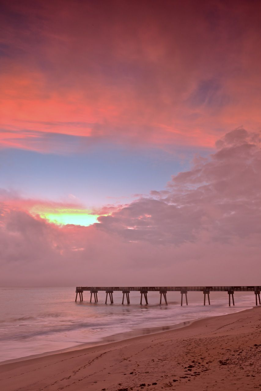 Another Beautiful Morning Shot Of The Vero Beach Pier Photography By Dale Sorensen Jr