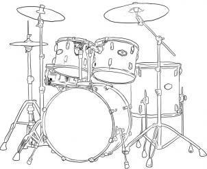 Барабанная установка рисунок 7