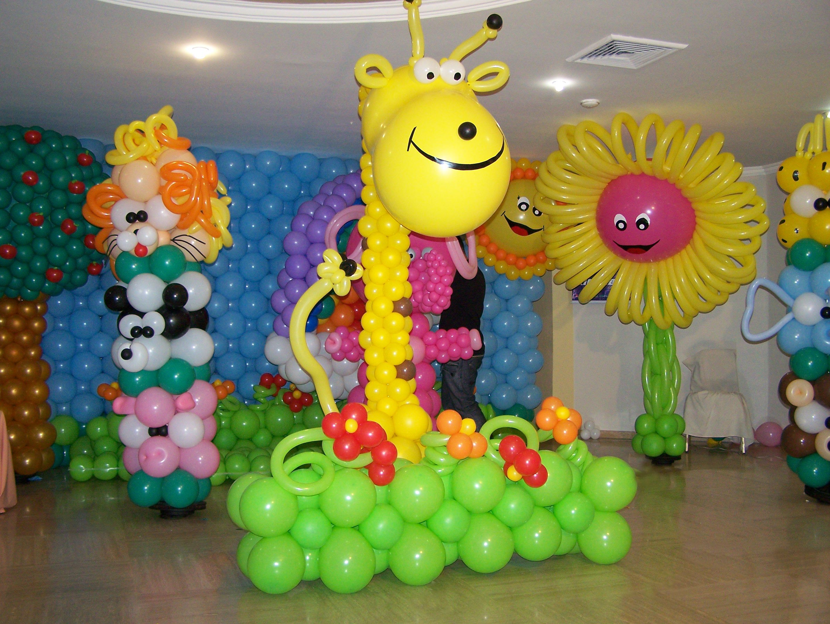 Escenarios en globos decoracion con globos pinterest for Decoracion con globos