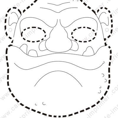mask ogre | Ogre maternelle, Activité manuelle masque ...