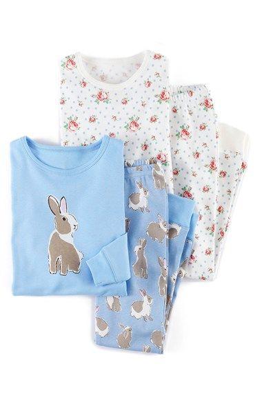 Mini Boden Snug Fit Pajamas (2-Pack) (Toddler Girls, Little Girls