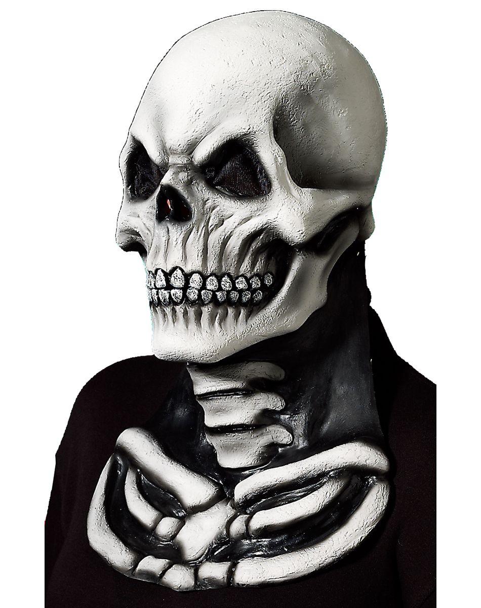 White Skeleton Neck Mask – Spirit Halloween | Evil pins ...