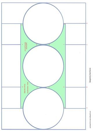 Circle trifold shutter card on Craftsuprint designed by Carol - circle template