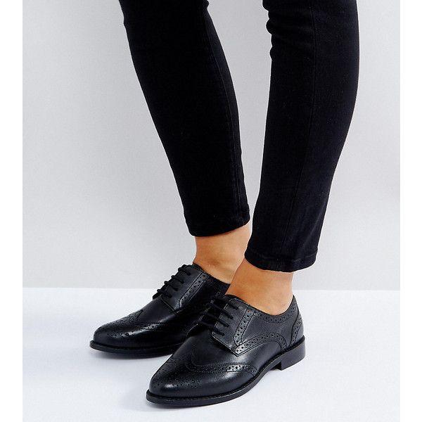 Asos Coupe Large Chaussures Richelieu En Noir - Noir qrmn8uCs