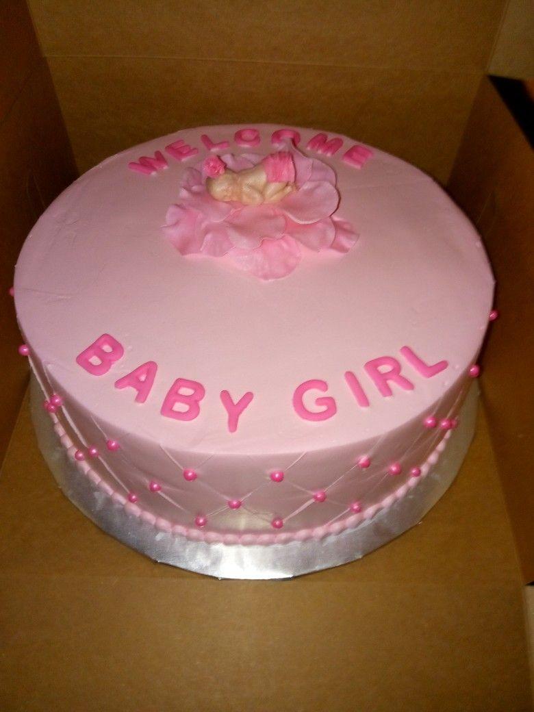 Baby Shower Cake For A Girl Pastel De Baby Shower Para Niña