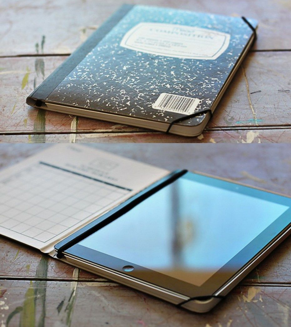 DIY Ipad case/notebook. Very meet idea. diy Ipad case diy