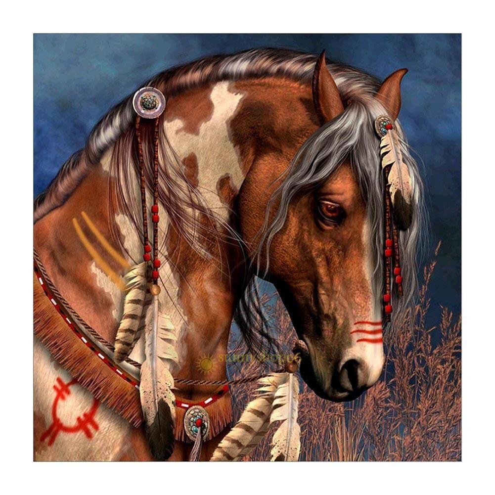 Beautiful horse 5d diamond painting embroidery diy cross