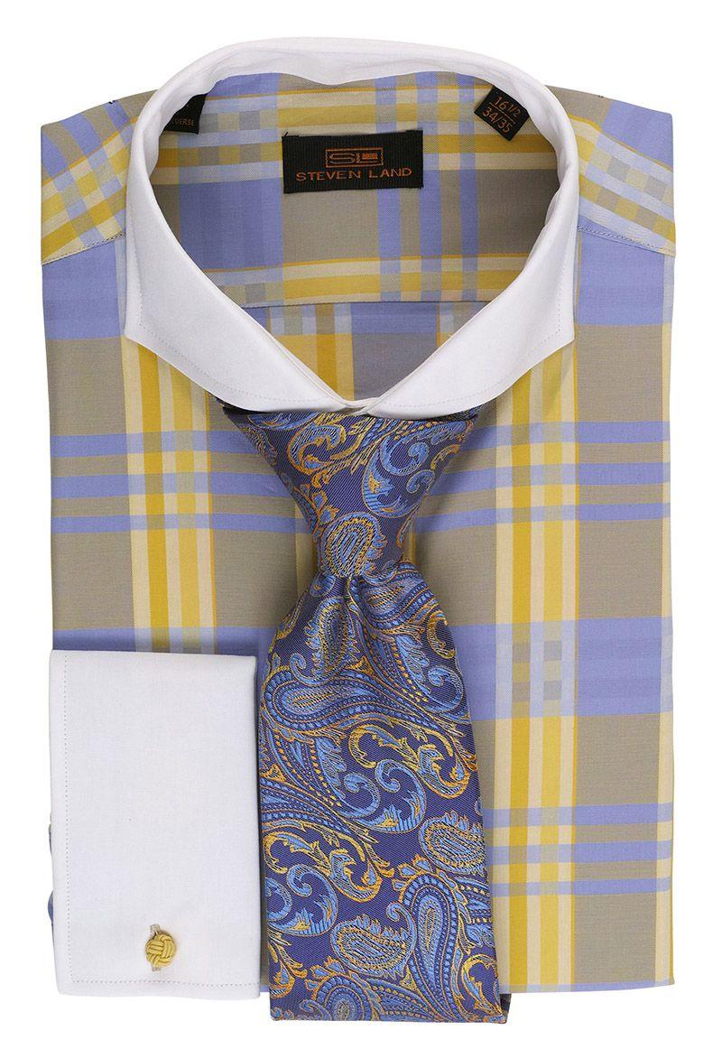 Steven Land French Cuff Dress Shirts