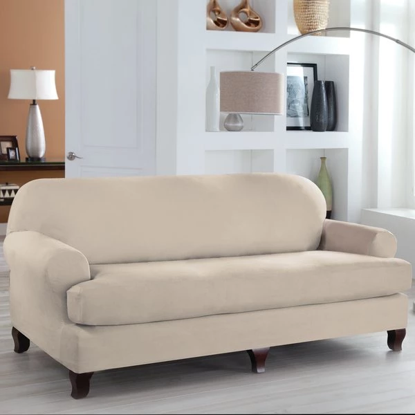 Tailor Fit T Cushion Sofa Slipcover By Serta Furnitureflix
