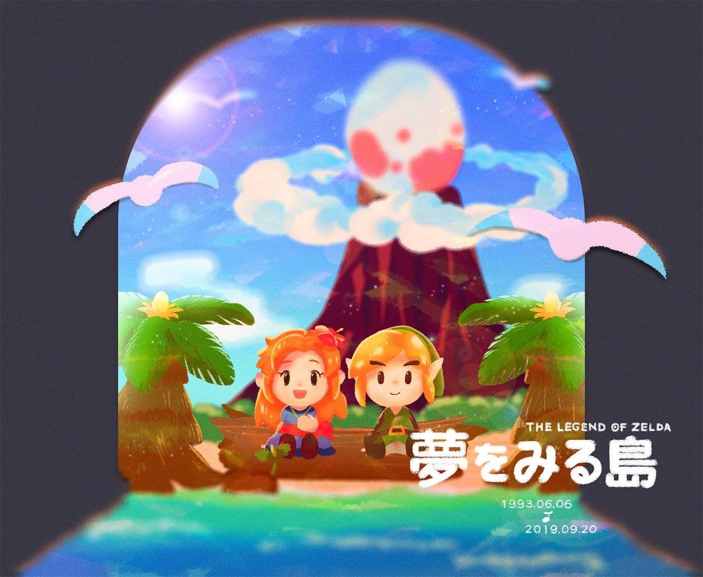 Legend Of Zelda Link S Awakening Remake Art Marin And