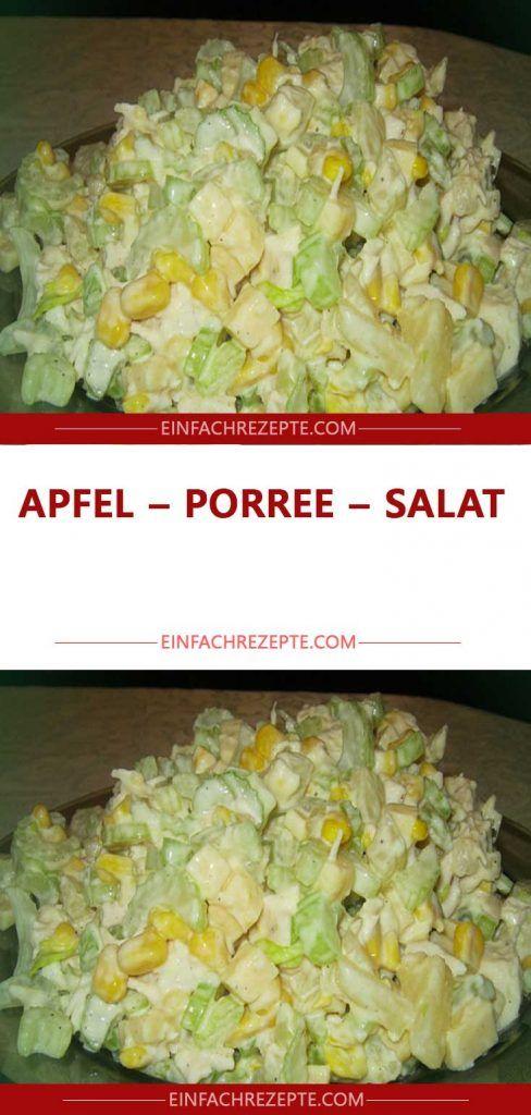 Photo of Apple – leek – salad