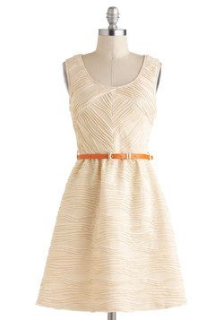 @Claire Paradis, this is pretty with a different color belt?  Coconut Layer Cake Dress, #ModCloth