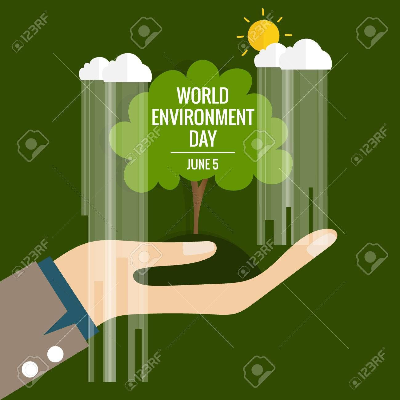 World environment day concept. Vector illustration. Illustration , #affiliate, #day, #environment, #World, #concept, #Illustration