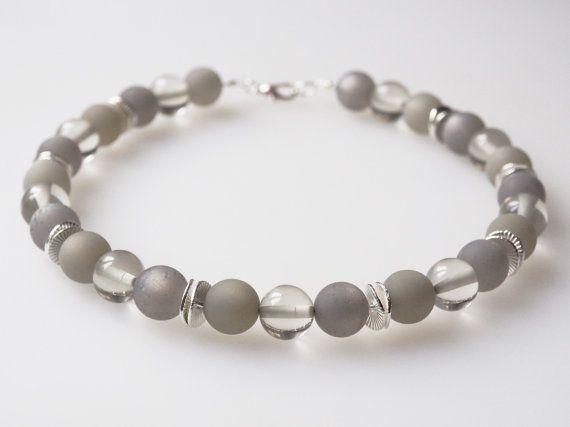 kette grau polariskette necklace grey von koenigsblau auf etsy jewelry modeschmuck ketten. Black Bedroom Furniture Sets. Home Design Ideas