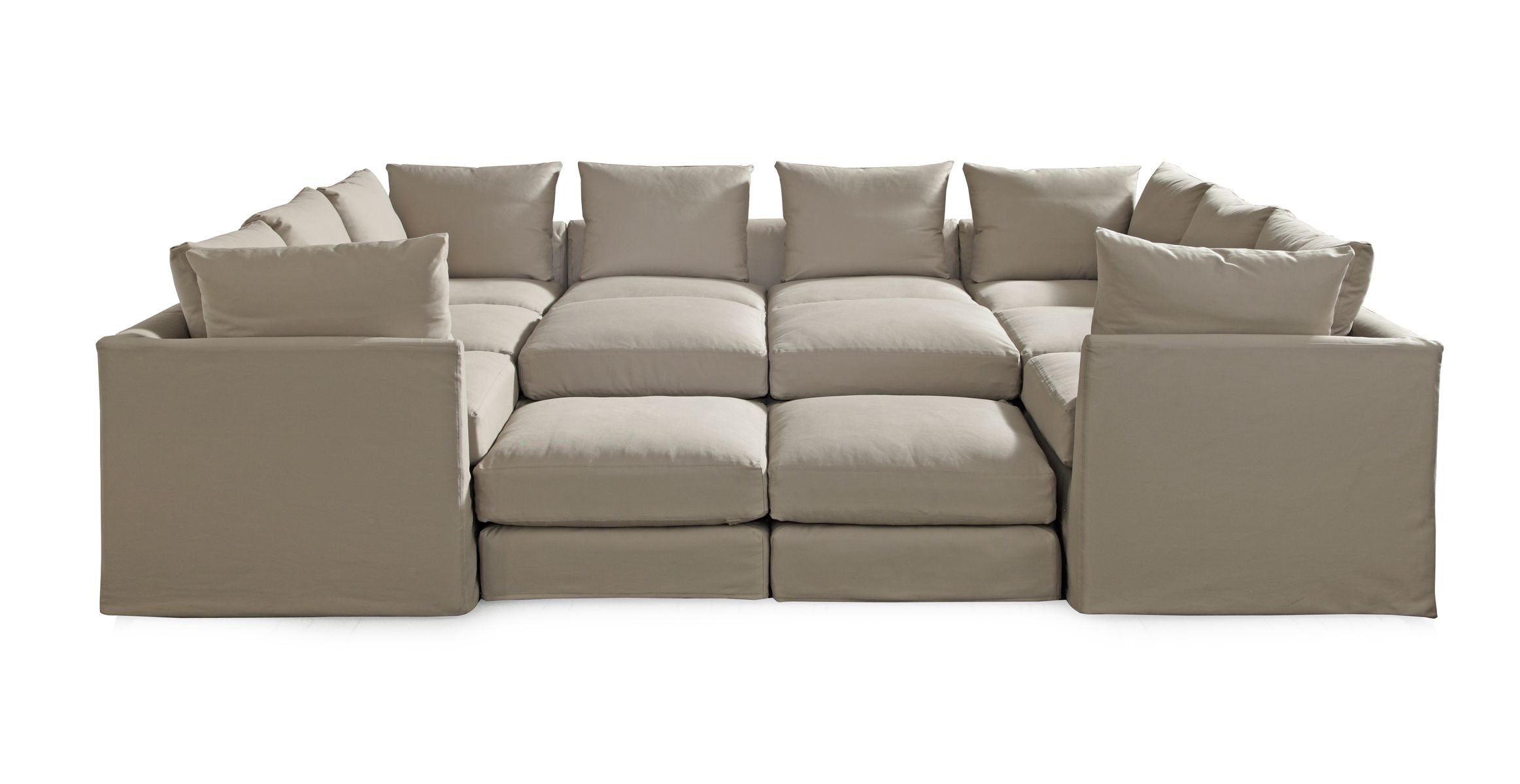 Pit Sectional Couches dr. pitt sectional- pit style sectional. great for family hang out