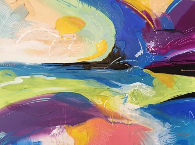 Abstract - painted by Clint Eagar
