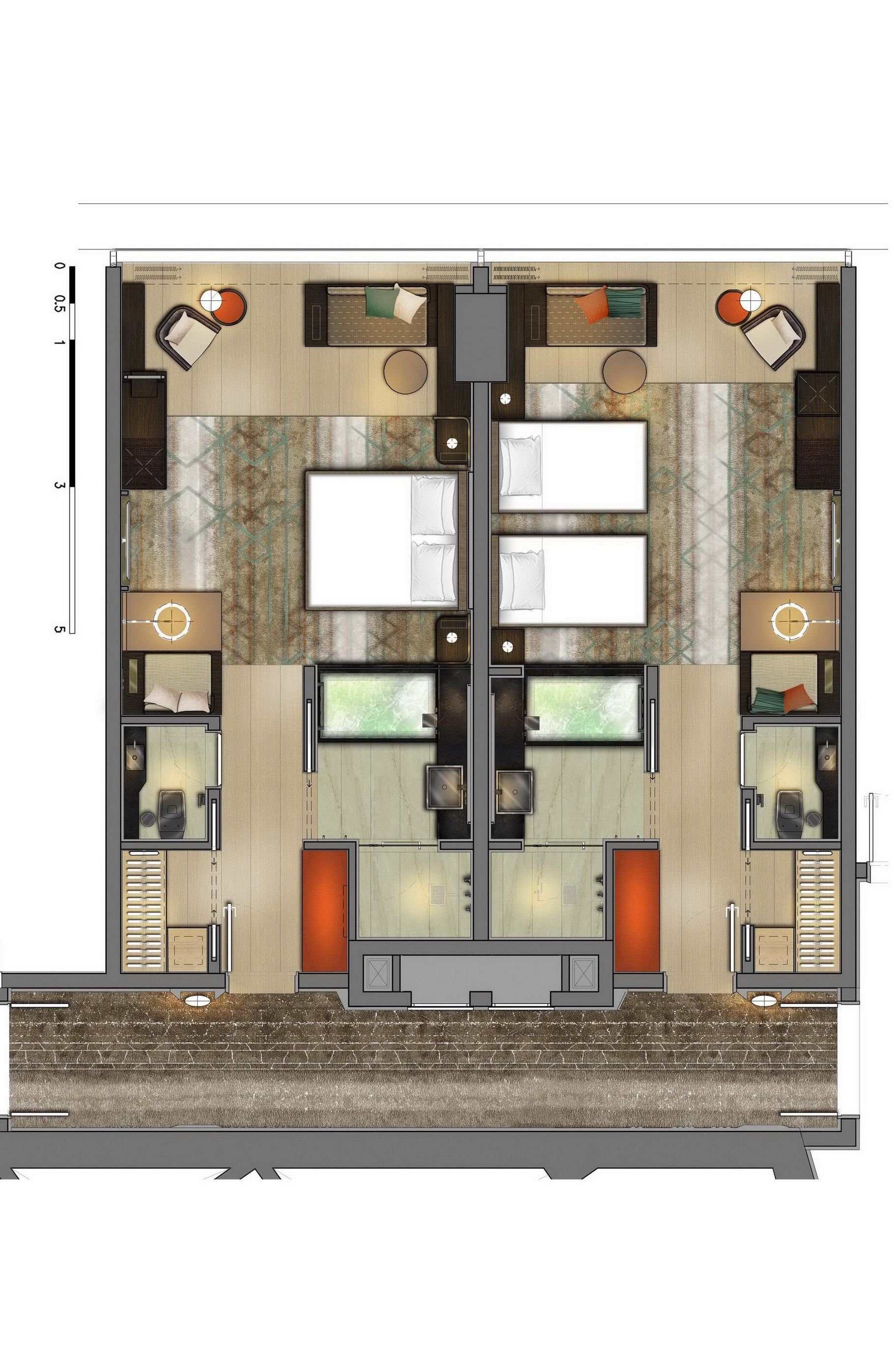 Grand Hyatt Xian Hotel Plan Master Room Architecture House