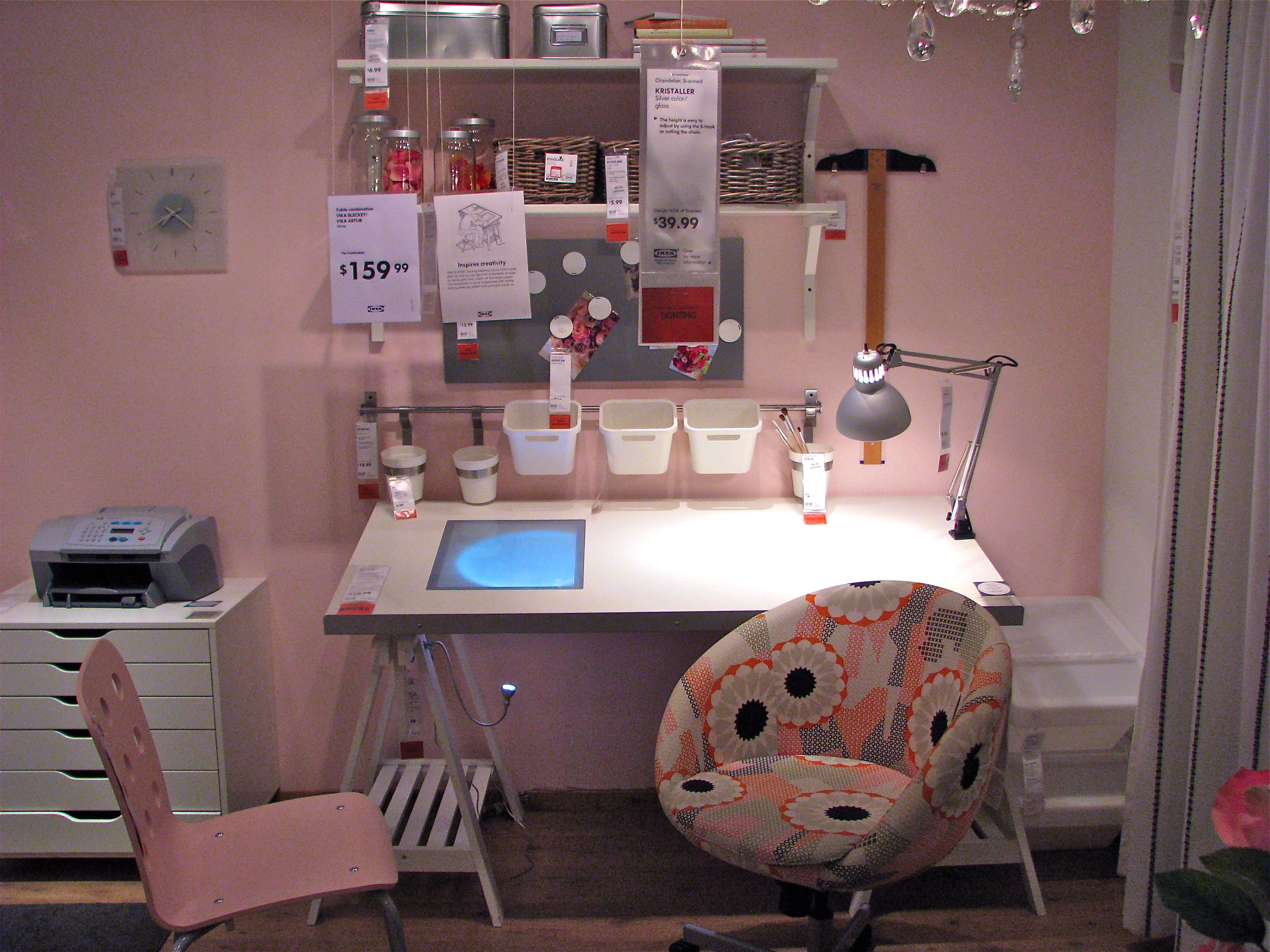 Craft room office ideas - Ikea Girly Craft Room Sewing Stationcraft Roomsoffice Ideasinterior