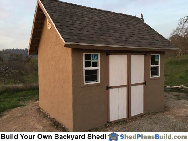Garden Sheds Halifax 12x16 garden shed plans with stucco. plansicreatables
