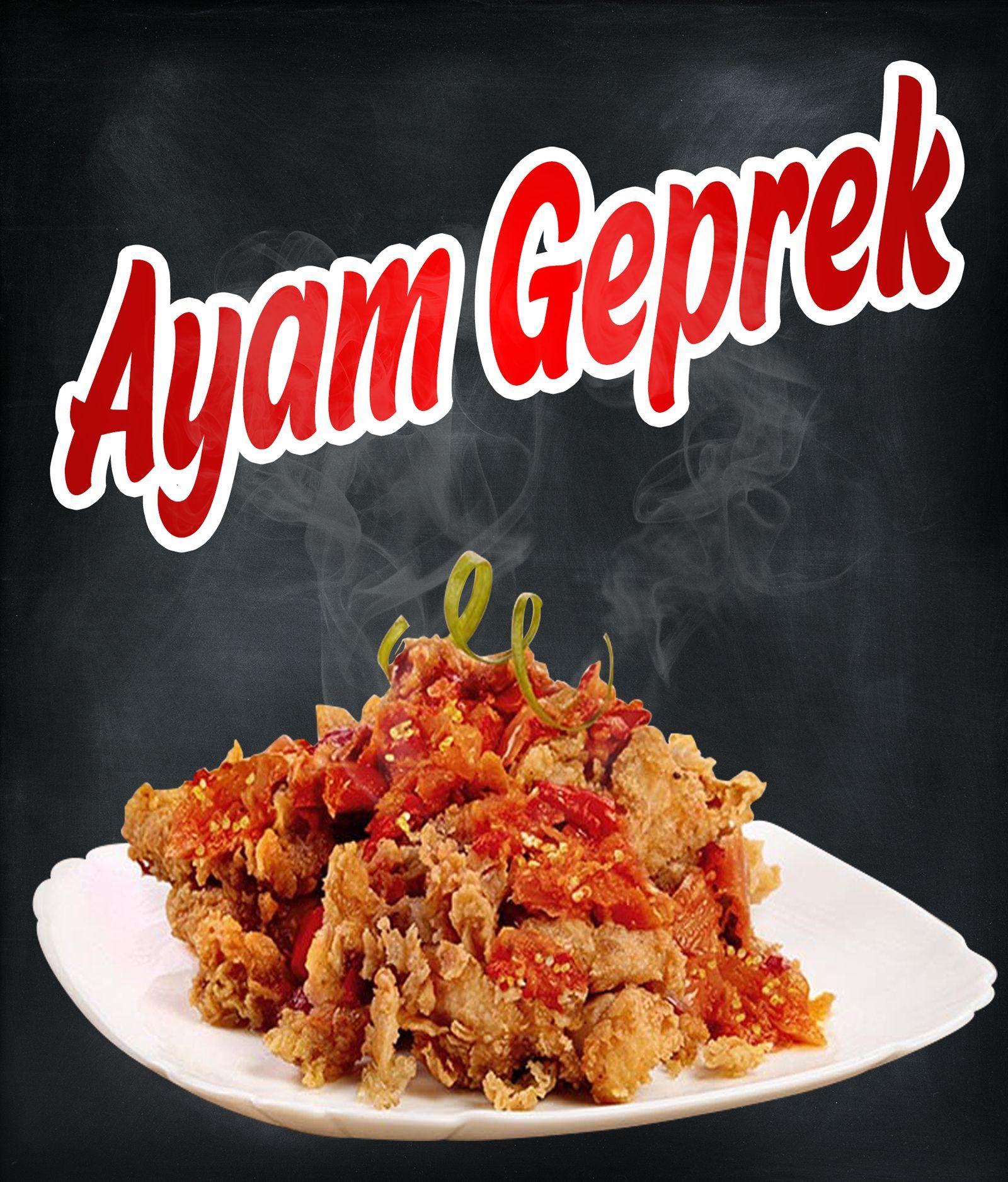 Ayam Geprek Poster Concept For Onefriedchicken Ayam Makanan Ayam Variasi Makanan