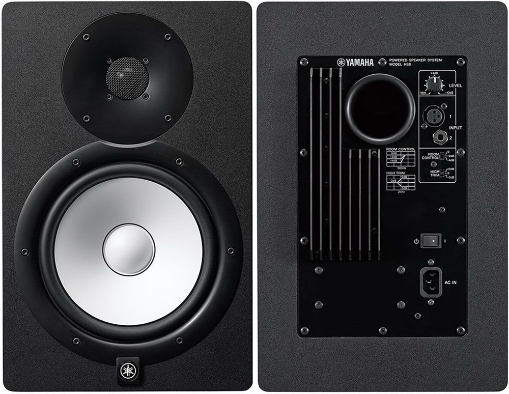 yamaha hs8 one of the best studio monitor speakers music gear for producers djs in 2019. Black Bedroom Furniture Sets. Home Design Ideas