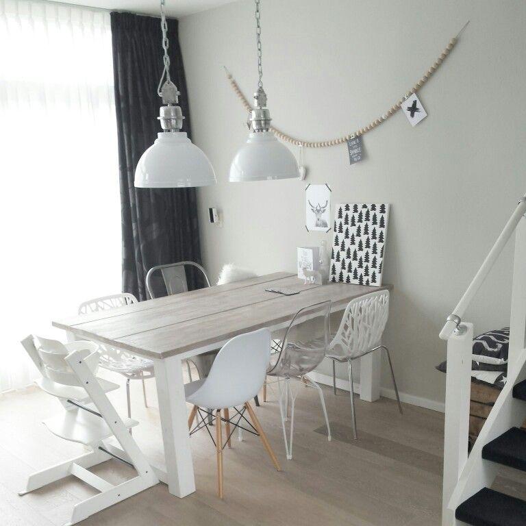 Eettafel Wit Design.Scandinavisch Eettafel Wit Kuipstoeltjes Dining Pinterest