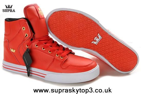 new style bc75b 9c446 Supra Men s Skytop Lite Red Gold Black White Red