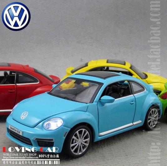 1:32 akustik-optik sürüm Volkswagen Beetle alaşım araba modeli-geri Çekin araba/kapı/ışık yüksek kaliteli açık