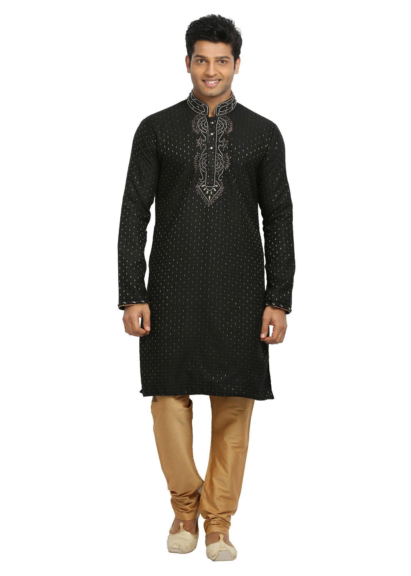 d507a8bddf Black Indian Wedding Kurta Pajama Sherwani Multiple Sizes (Rent ...