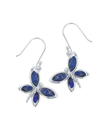 Look what I found on #zulily! Lapis Lazuli & Sterling Silver Butterfly Earrings #zulilyfinds
