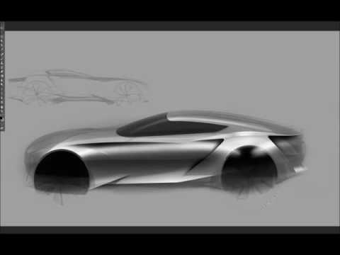 자동차 스케치 & 디자인(Photoshop Retouch)