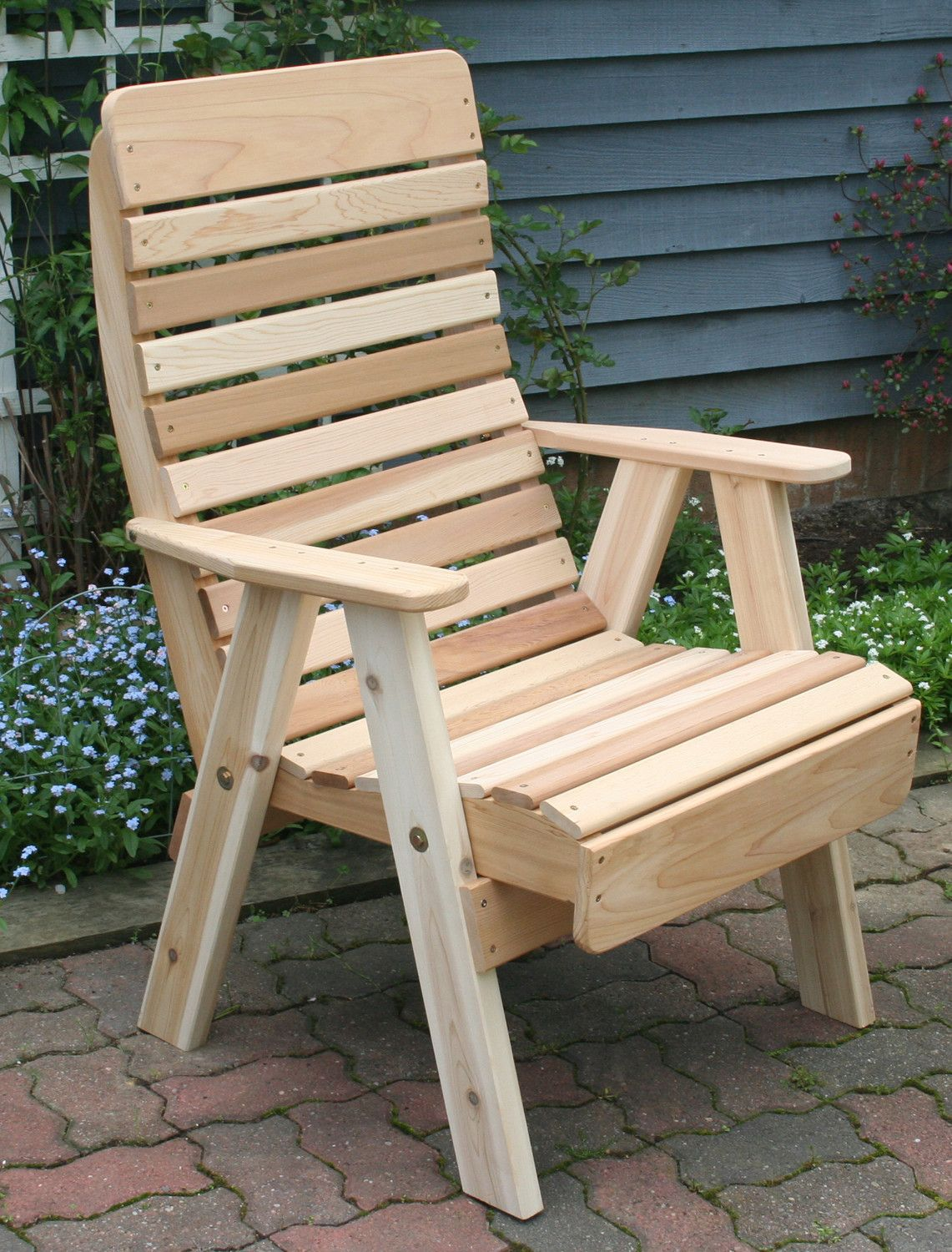 High Back Chair Patio Furniture Game Tables And Chairs Creekvine Designs Cedar Highback Crafts Pinterest