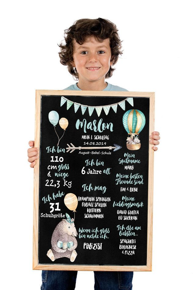"Photo of 1. SKOLEDAG Milepæltavle, skolepåmelding, skoleplakat, ""Boho"", personlig gave, tavle"