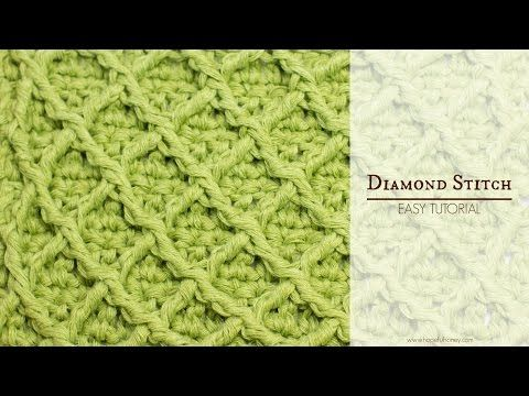 Diamantsteek Haken Deel 1 Crochet Diamant Stitch Part 1 Youtube