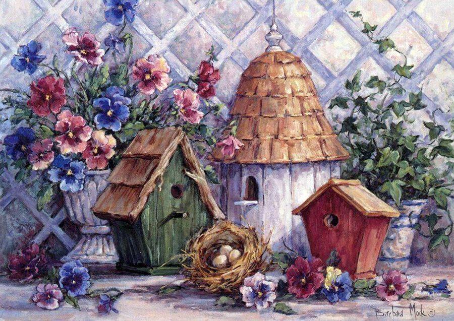 Красивые картинки для декупажа домики