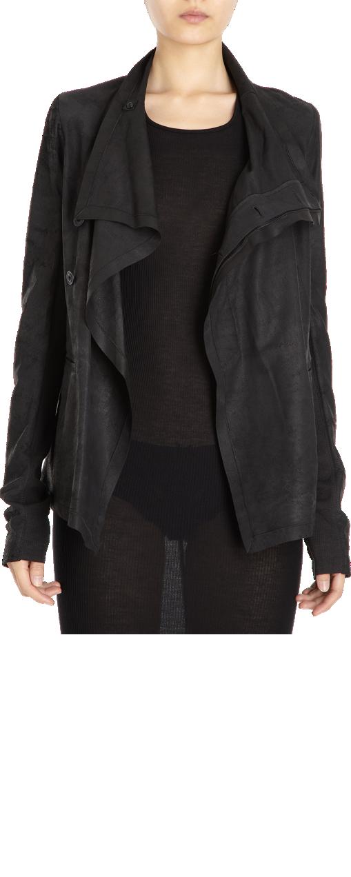 Rick Owens Leather Asymmetrical Jacket Jackets, Leather